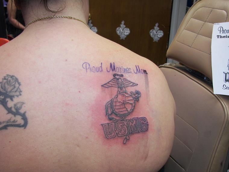 marine mom tattoos