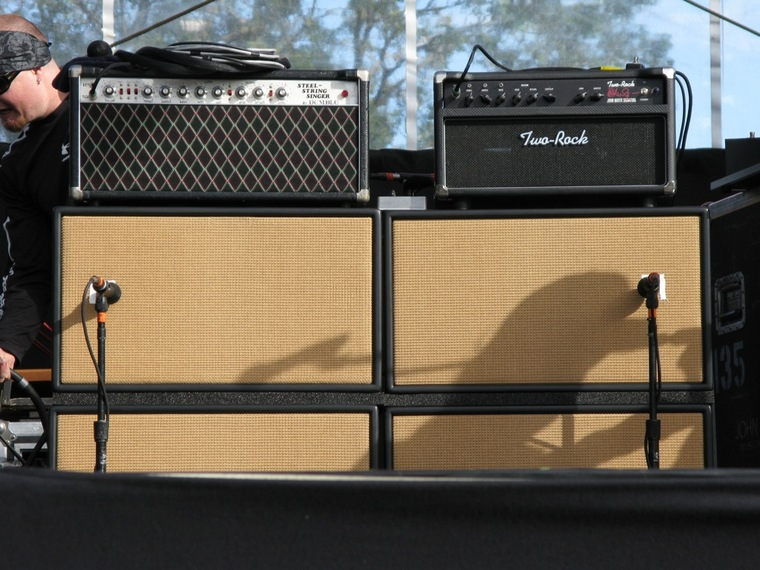 This Pic Is Shows His Amps Quite Well