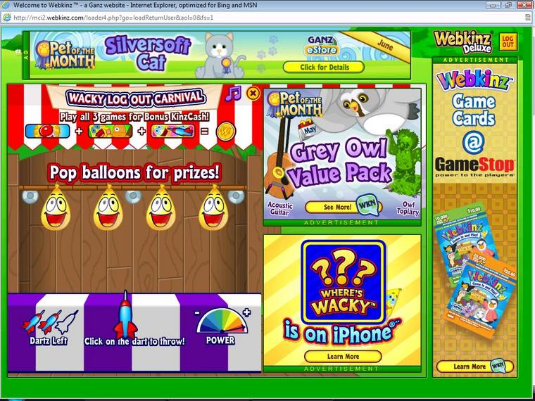 Webkinz series 3 prizes for carnival games