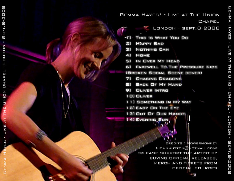 Gemma Hayes - Union Chapel bootleg back