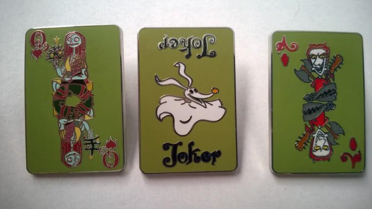 2015 Disney Nightmare Before Christmas Playing Card Barrel Pin