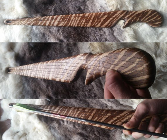 Banner Image: WoodsWanderer's Tiger Striped Atlatl