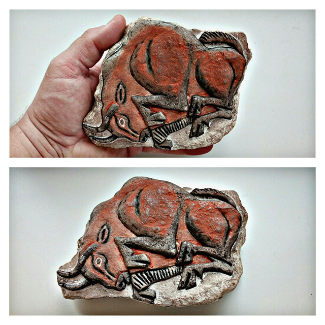 Banner Image: Bison bas-relief carved by Russianman