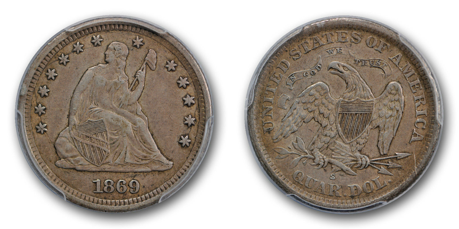 GFRC Open Set Registry - Golden Arm 1869 Seated  25C