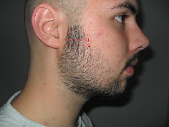 Blending a shaved head