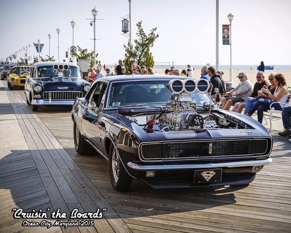 Cruisin Ocean City MD Boardwalk May Muscle Machines - Ocean city car show