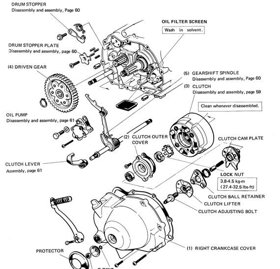 clutch adjustment page 14 honda trail ct90 & ct110 forum honda ct90 engine rebuild ct110 engine diagram #9