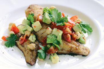 Avocado and chickpea salsa with grilled fish 37116c5b466d335fa6177a9c981a794986a76ffb_r