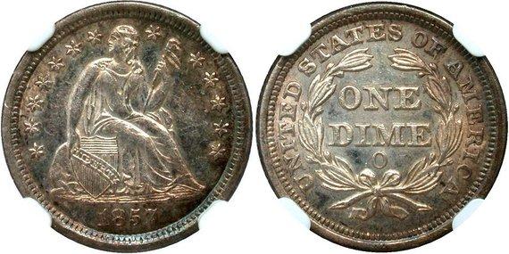 GFRC Open Set Registry - TombstoneJoe 1857 Seated  10C