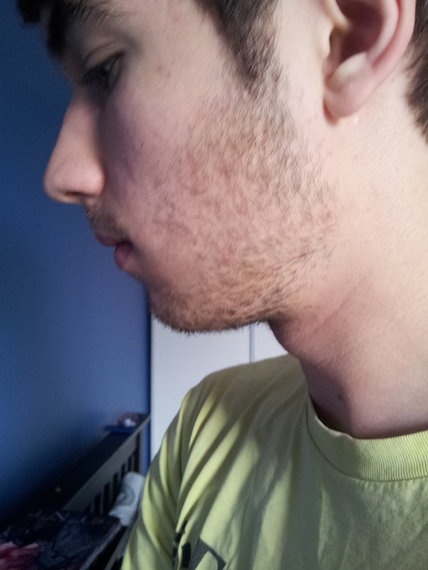 1 month without shaving