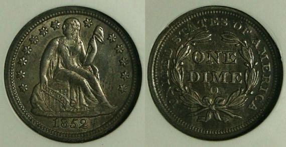 GFRC Open Set Registry - TombstoneJoe 1852 Seated  10C