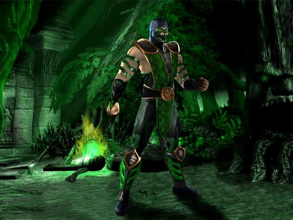 theleagueofheroes yuku   here is the reptile pic i wasMortal Kombat 9 Reptile Alternate Costume
