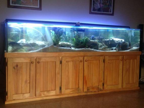 8 ft fish tank aquarium with weir 4 ft multistage sump tank and timber cabinet