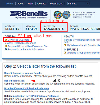 ebenefits va login