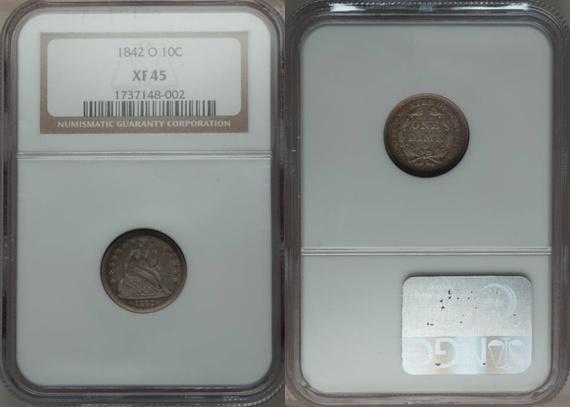 GFRC Open Set Registry - TombstoneJoe 1842 Seated  10C