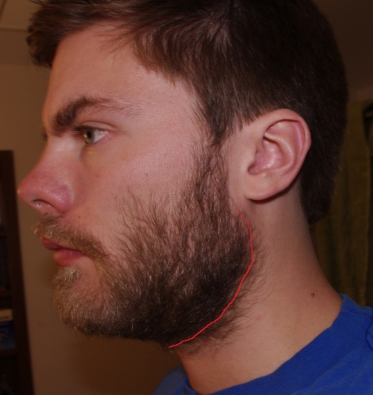 how to cut a neckline on a beard