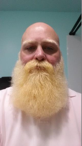 Pairing Hairstyles And Beard For Men Platinum Blonde Hair