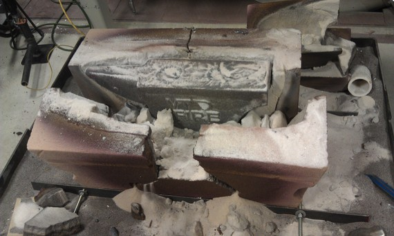 Adam's cast ductile iron anvil fresh out of the mold
