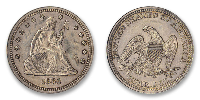 GFRC Open Set Registry - Golden Arm 1864 Seated  25C