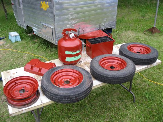 Aluminum Oxide Primer Red With Red Oxide Primer