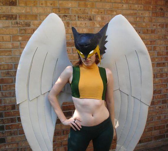 Hawk girl helmet pepakura