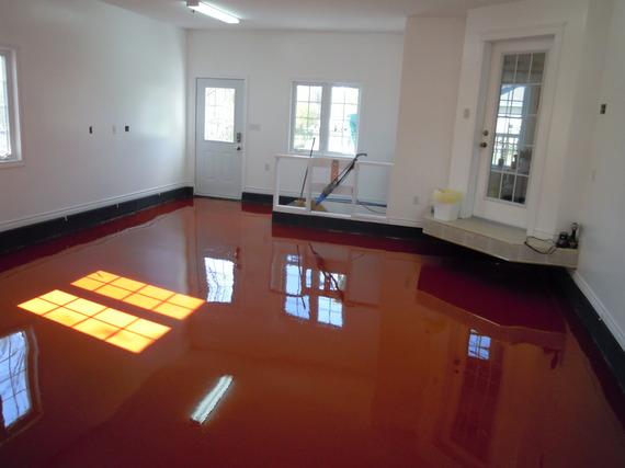 Red Garage Floor