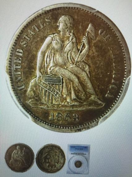 GFRC Open Set Registry - TombstoneJoe 1863 Seated  10C