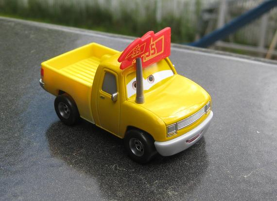 Lightning Mcqueen Yellow Fan Pickup Truck Custom Disney Pixar Cars