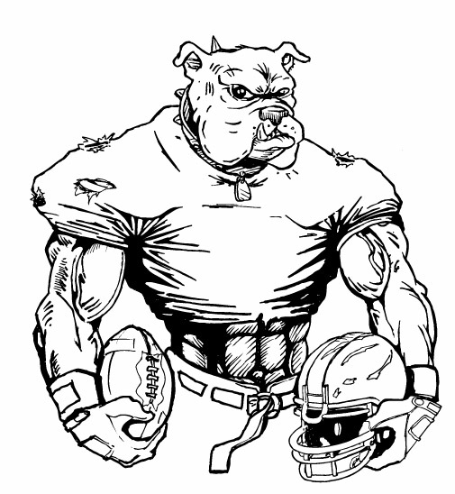school bulldog coloring pages - photo#25