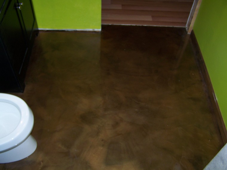 Re Epoxy Bathroom Floor Decorative Concrete Custom Interior Floori