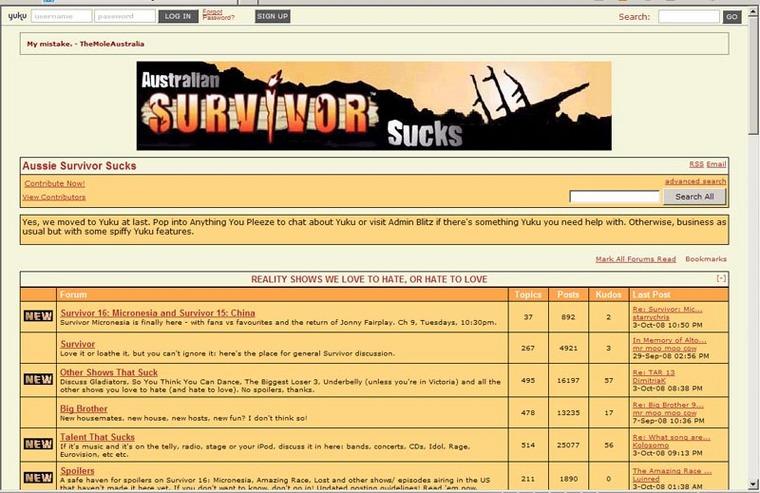 Survivor sucks yuku