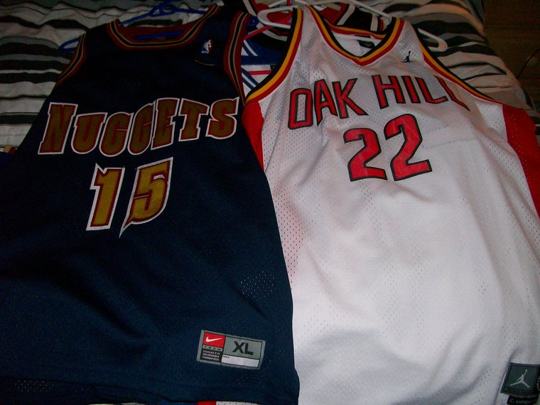 carmelo anthony oak hill jersey. customized antonio mcdyess into carmelo anthony jerseyoakhill carmelo
