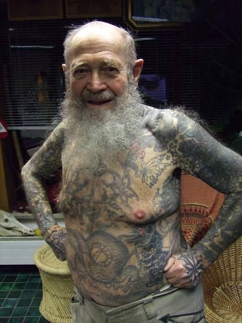 old people with tattoos. OLD people with tattoos