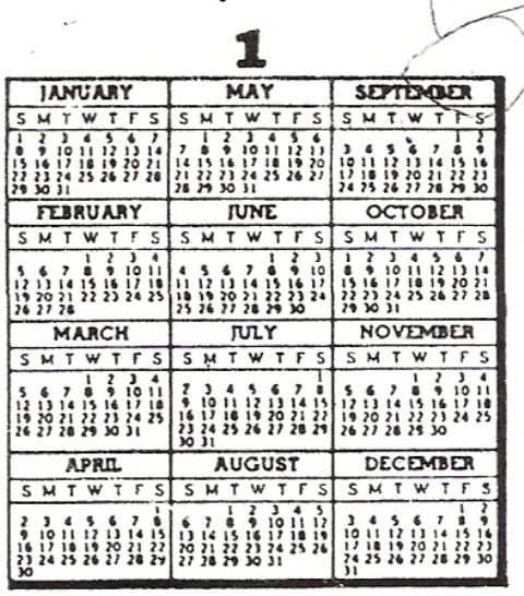 Perpetual Calendar 1800 To 2050 : Find a calendar for any year between to the