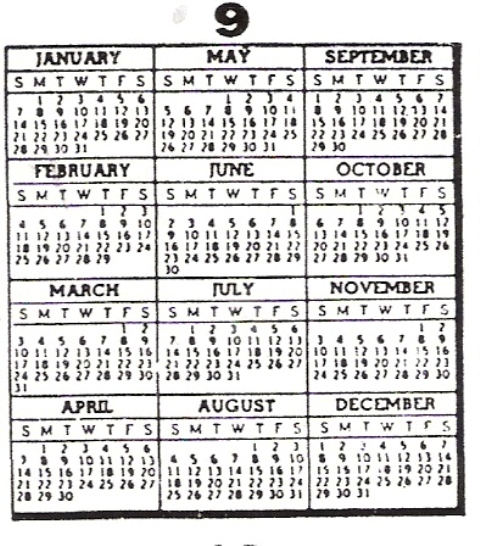 find a calendar for any year between 1800 to 2050