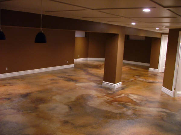 1500 sqft basement acid staining for How to clean acid stain floors