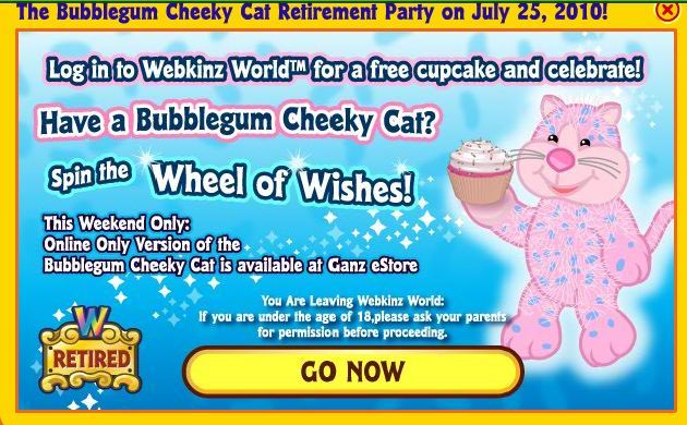 From Webkinz Newz. Bubblegum Cheeky Cat Retires Party Cupcake on Asian  Cat   eStore