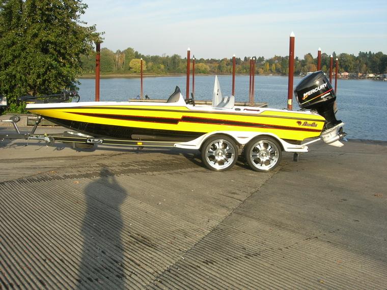 Yellow bass boat seats