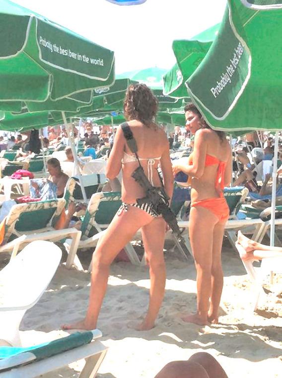 Bikini Clad Gun Toting Israeli Woman Becomes An Internet