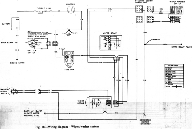 Commodore Wiper Motor Wiring Diagram