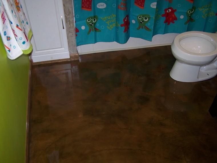 Re Epoxy Bathroom Floor